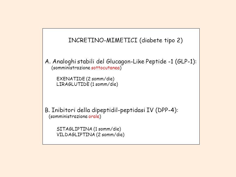 INCRETINO-MIMETICI (diabete tipo 2)