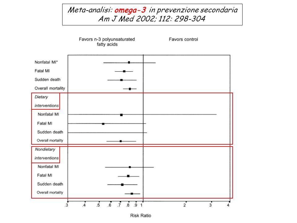 Meta-analisi: omega-3 in prevenzione secondaria