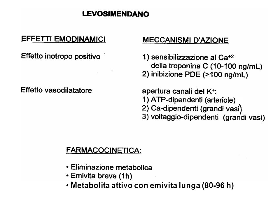 Metabolita attivo con emivita lunga (80-96 h)