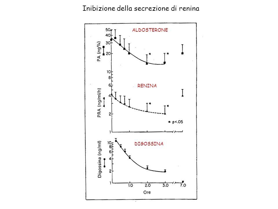 Inibizione della secrezione di renina