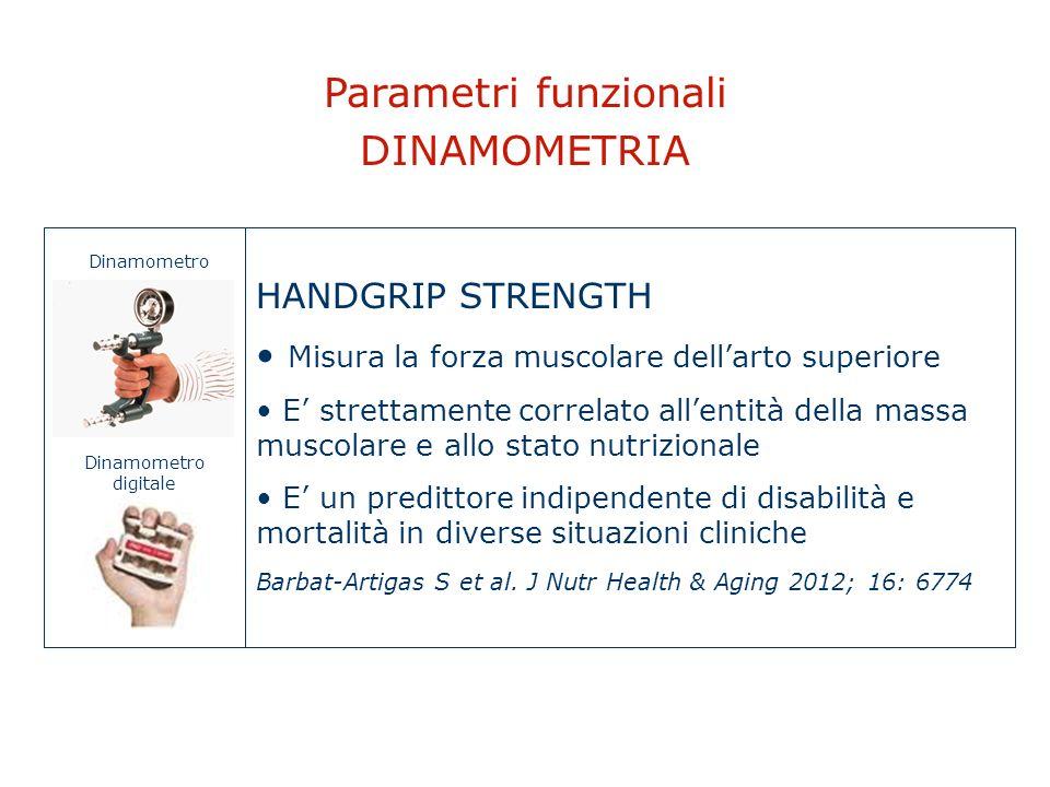 Parametri funzionali DINAMOMETRIA HANDGRIP STRENGTH