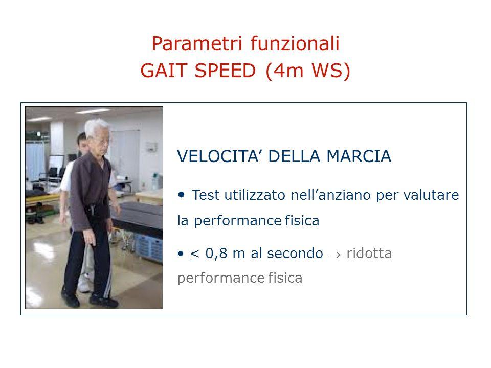 Parametri funzionali GAIT SPEED (4m WS) VELOCITA' DELLA MARCIA