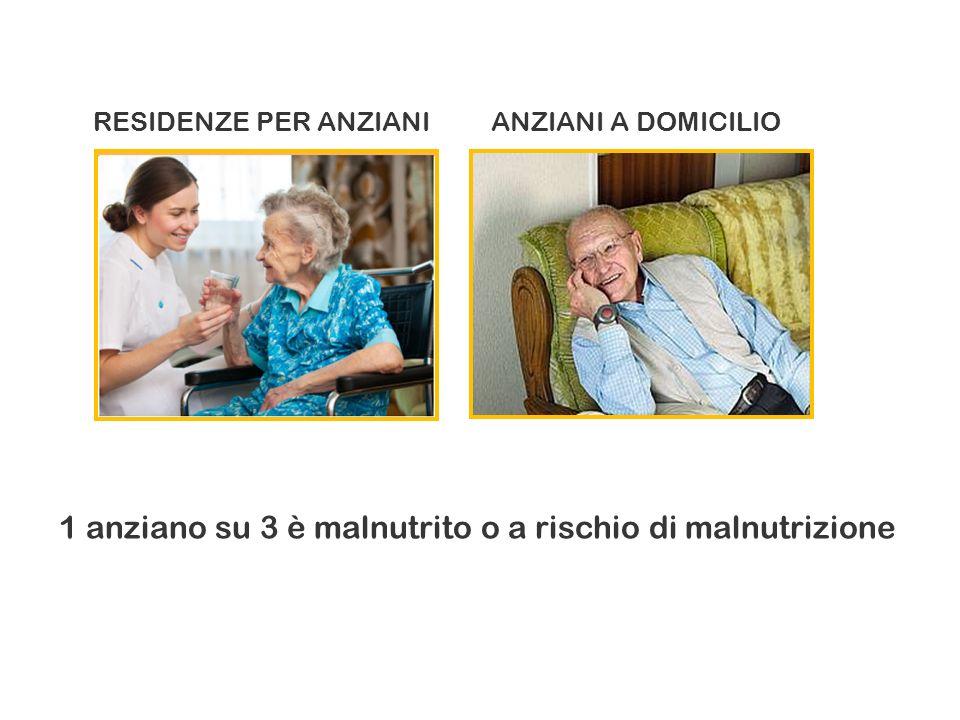 1 anziano su 3 è malnutrito o a rischio di malnutrizione