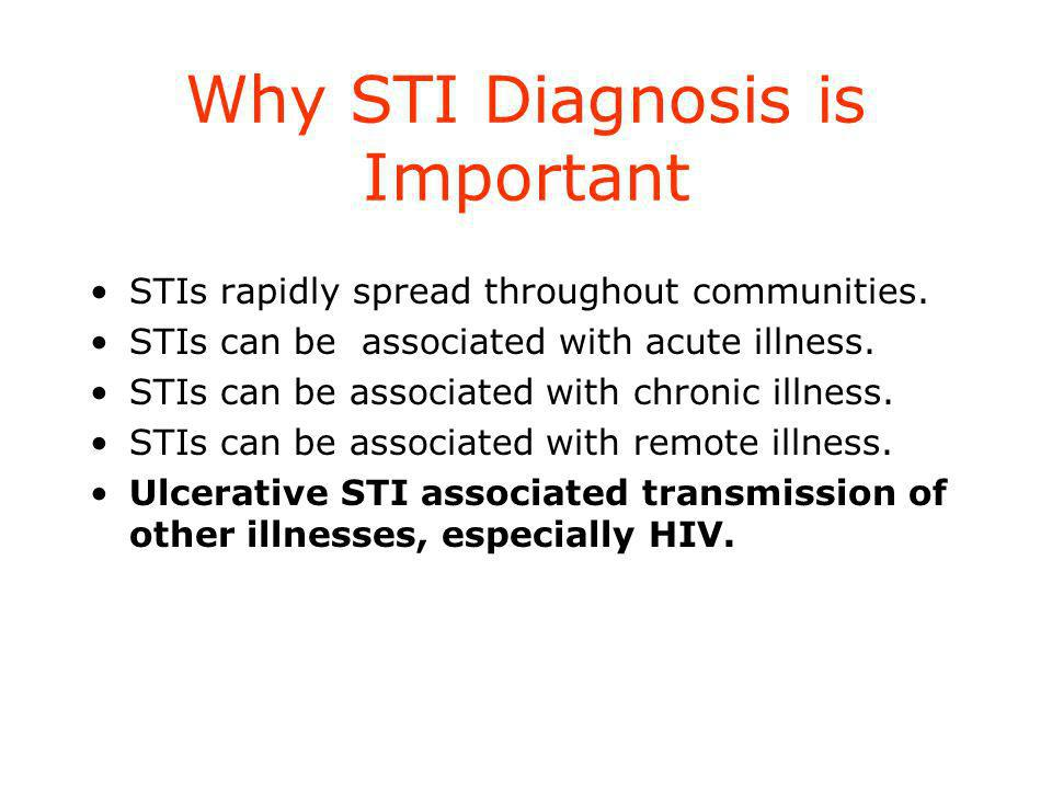 Why STI Diagnosis is Important