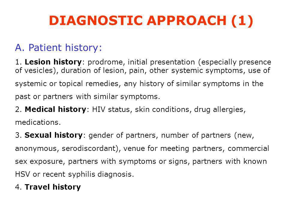 DIAGNOSTIC APPROACH (1)