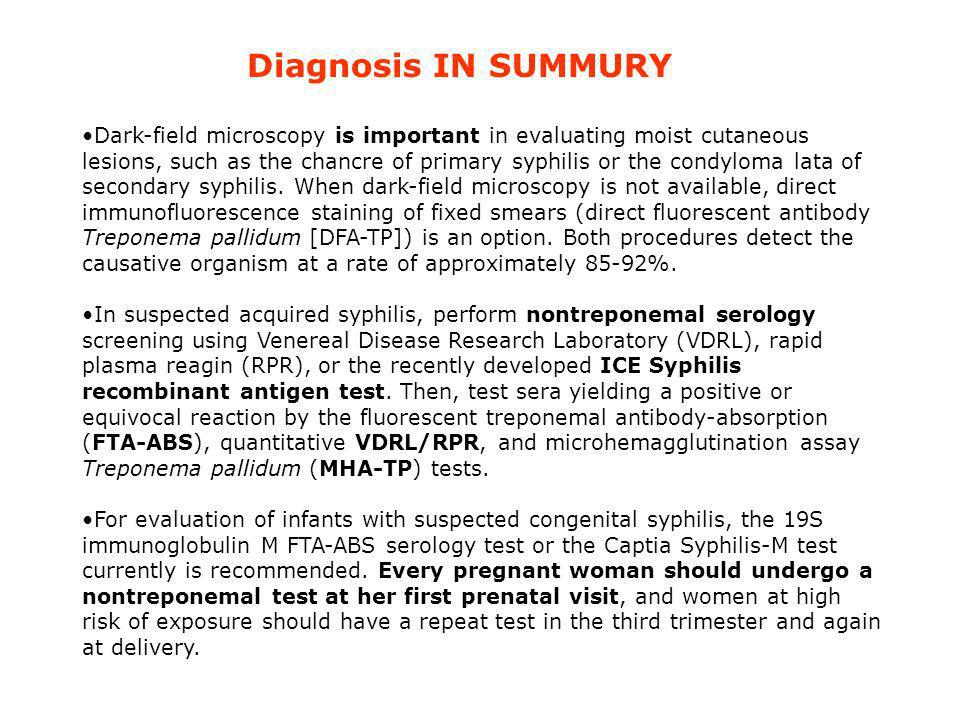 Diagnosis IN SUMMURY