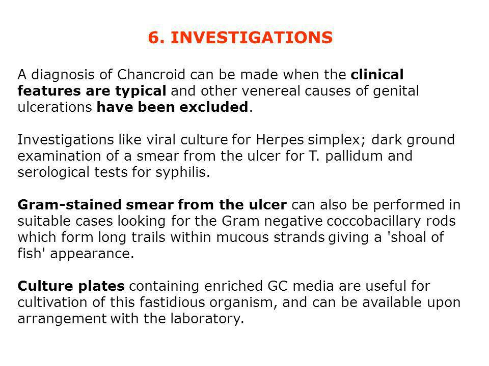6. INVESTIGATIONS