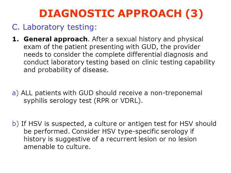DIAGNOSTIC APPROACH (3)