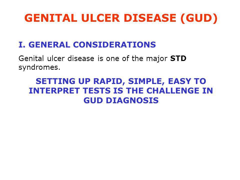 GENITAL ULCER DISEASE (GUD)