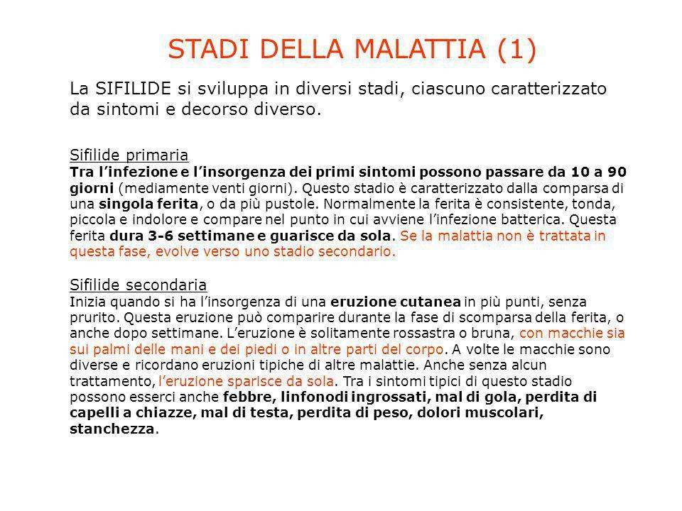 STADI DELLA MALATTIA (1)
