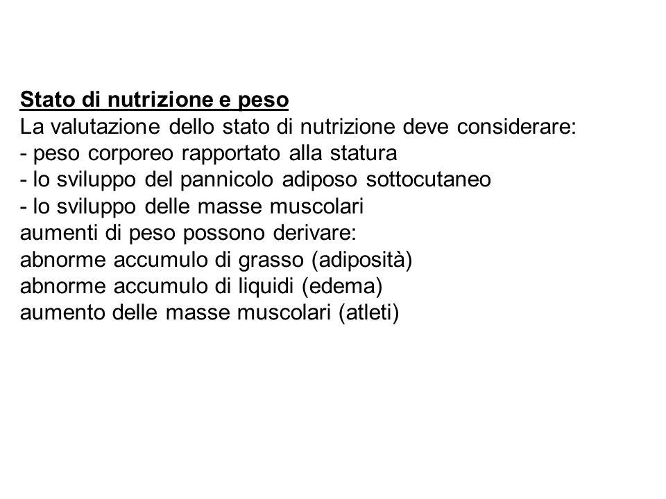 Stato di nutrizione e peso