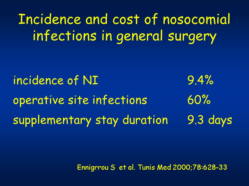 Incidence and cost of nosocomial infections in general surgery