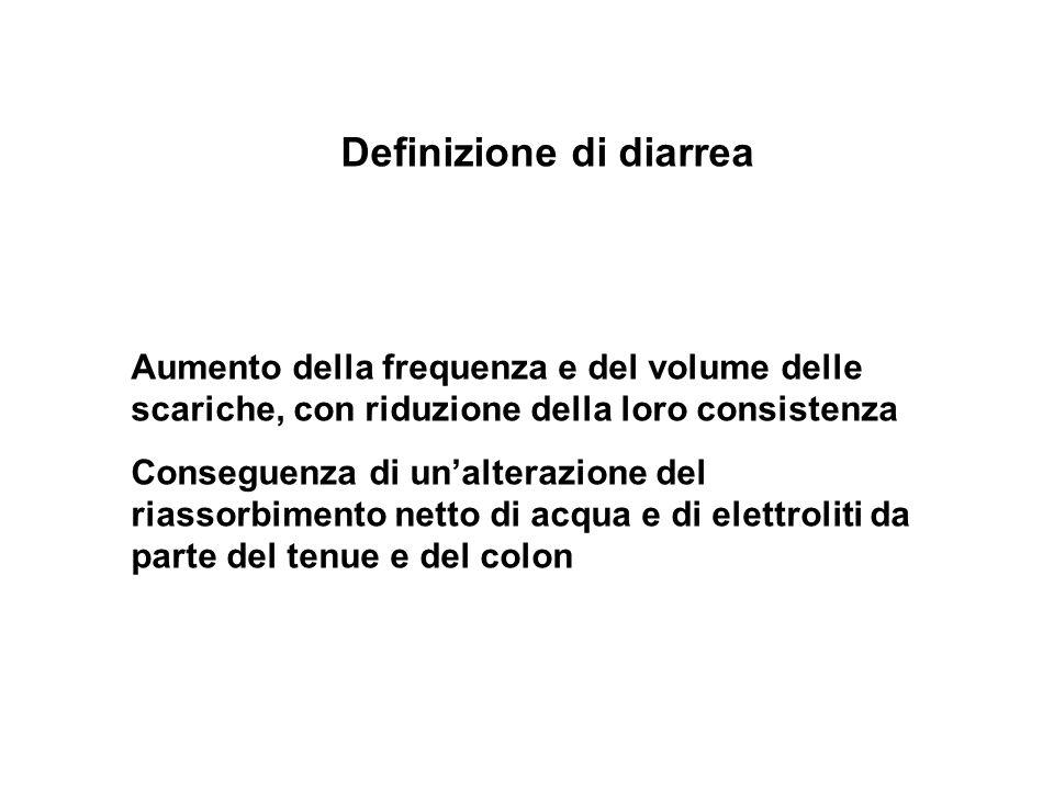 Definizione di diarrea