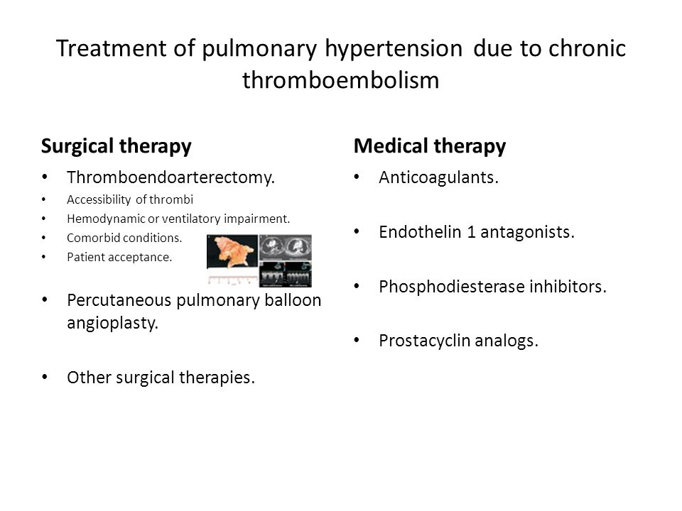 Treatment of pulmonary hypertension due to chronic thromboembolism