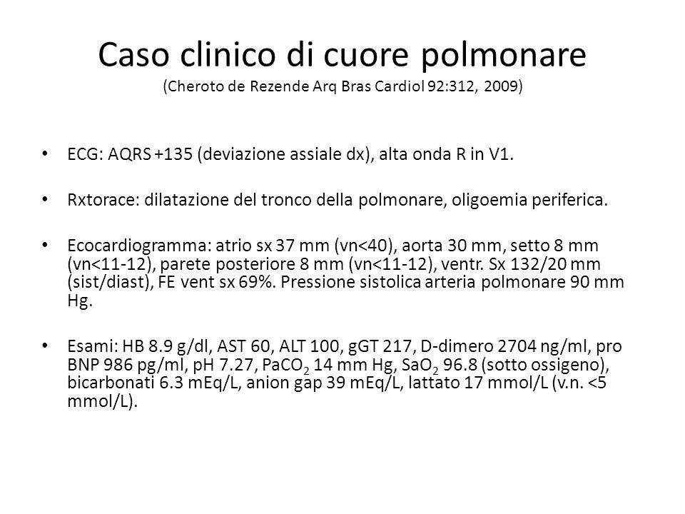 Caso clinico di cuore polmonare (Cheroto de Rezende Arq Bras Cardiol 92:312, 2009)