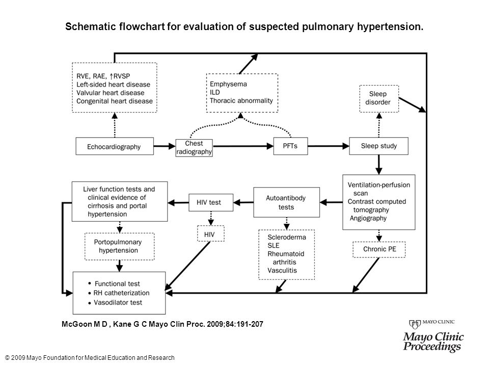 Schematic flowchart for evaluation of suspected pulmonary hypertension.