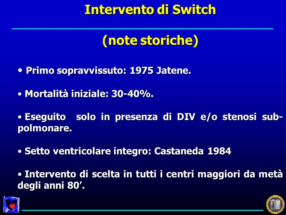 Intervento di Switch (note storiche)