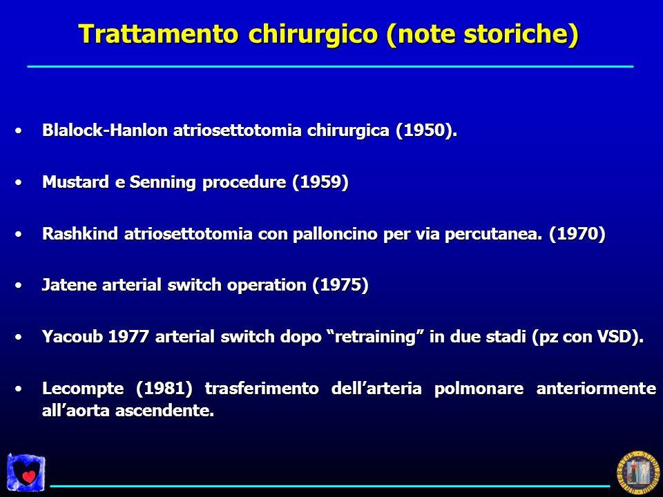 Trattamento chirurgico (note storiche)