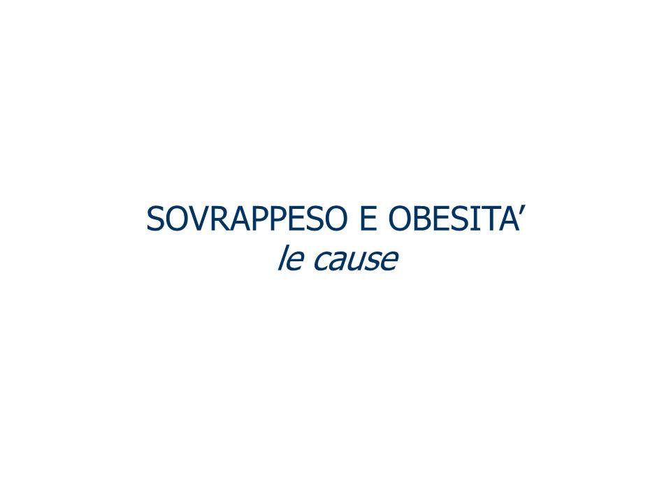 SOVRAPPESO E OBESITA' le cause