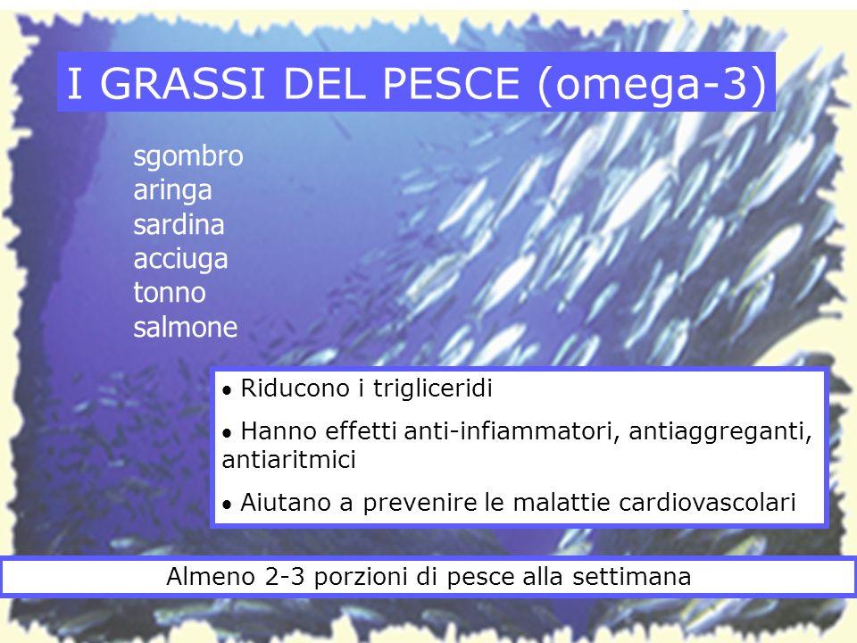 I GRASSI DEL PESCE (omega-3)