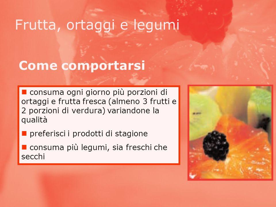 Frutta, ortaggi e legumi