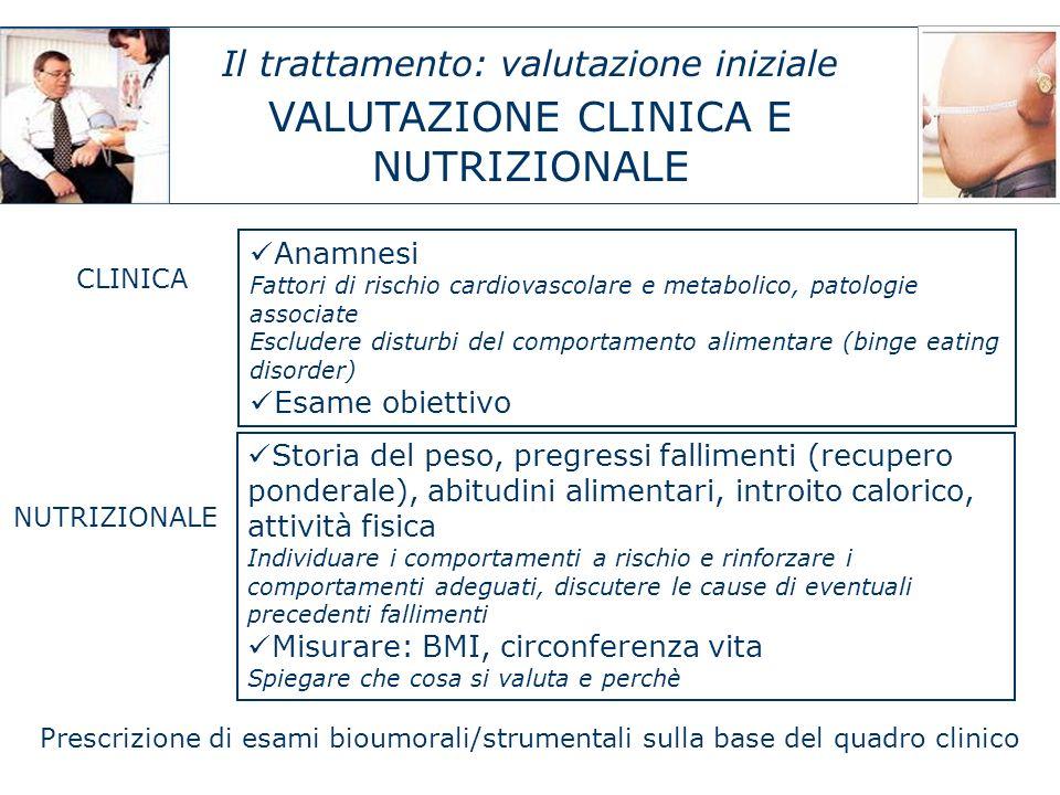 VALUTAZIONE CLINICA E NUTRIZIONALE