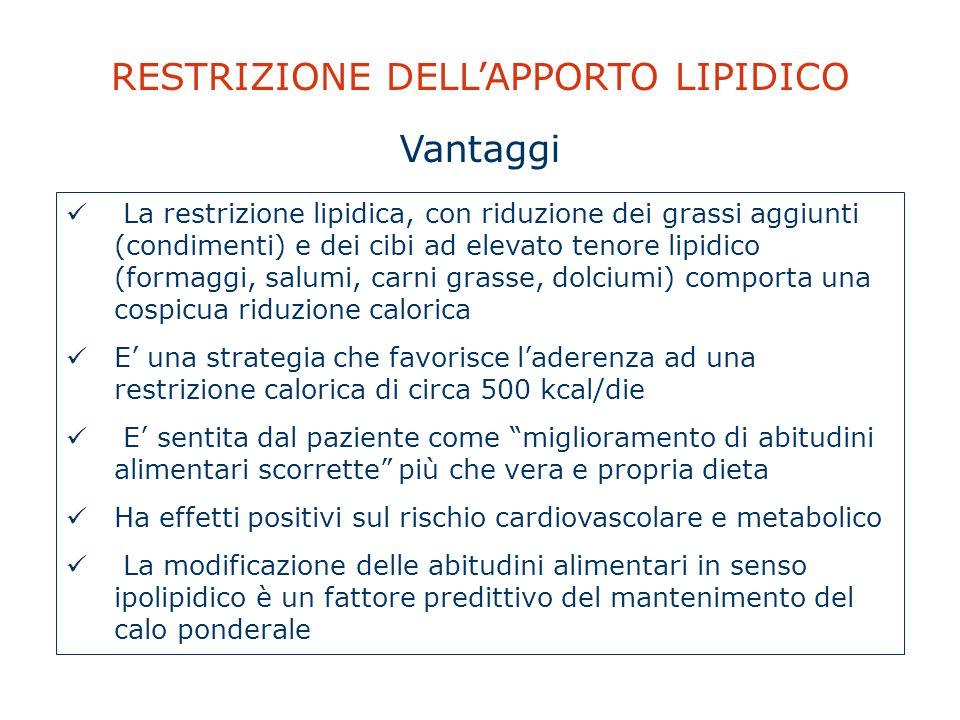 RESTRIZIONE DELL'APPORTO LIPIDICO