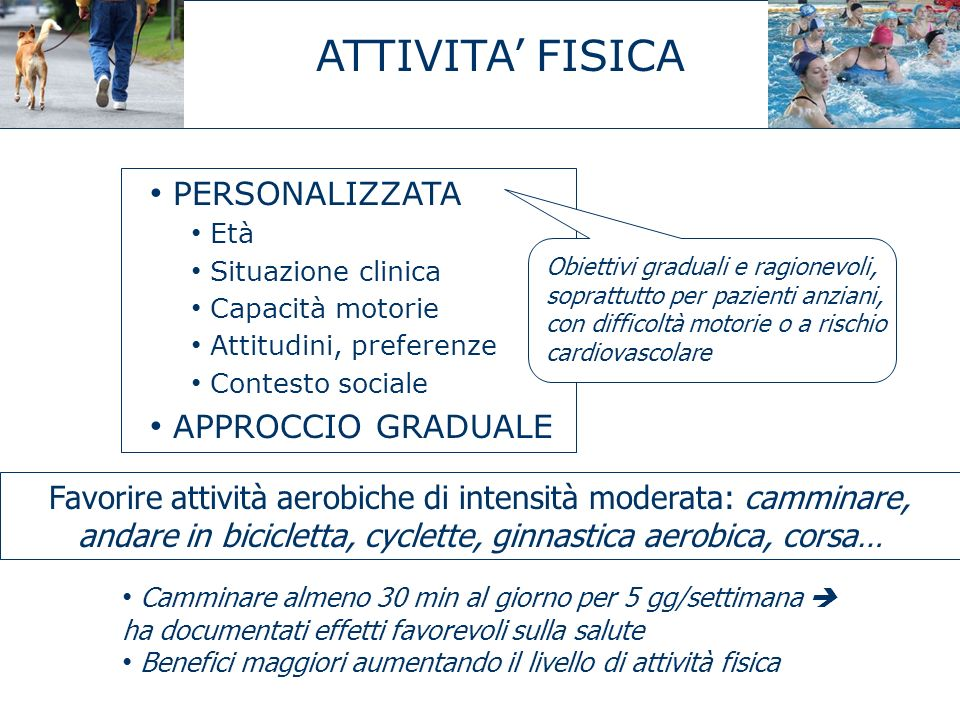 ATTIVITA' FISICA PERSONALIZZATA APPROCCIO GRADUALE