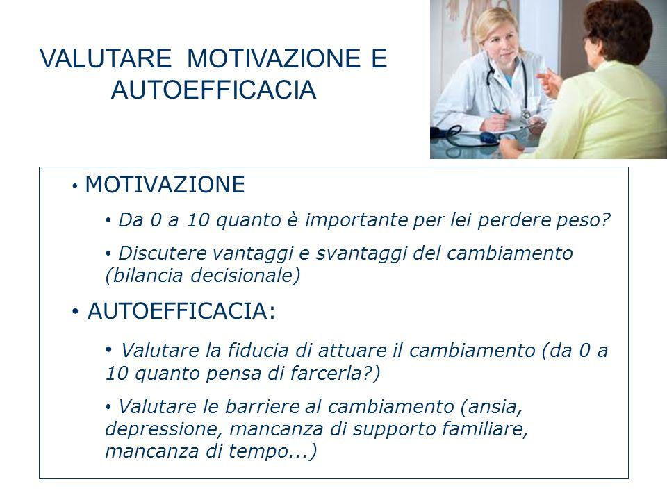 VALUTARE MOTIVAZIONE E AUTOEFFICACIA