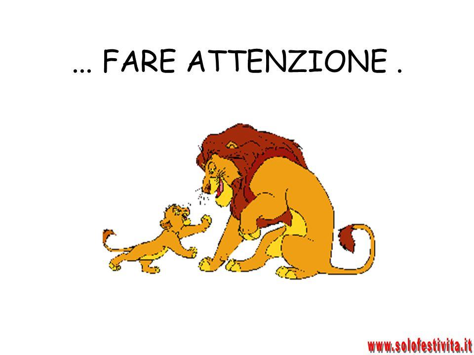 ... FARE ATTENZIONE . www.solofestivita.it