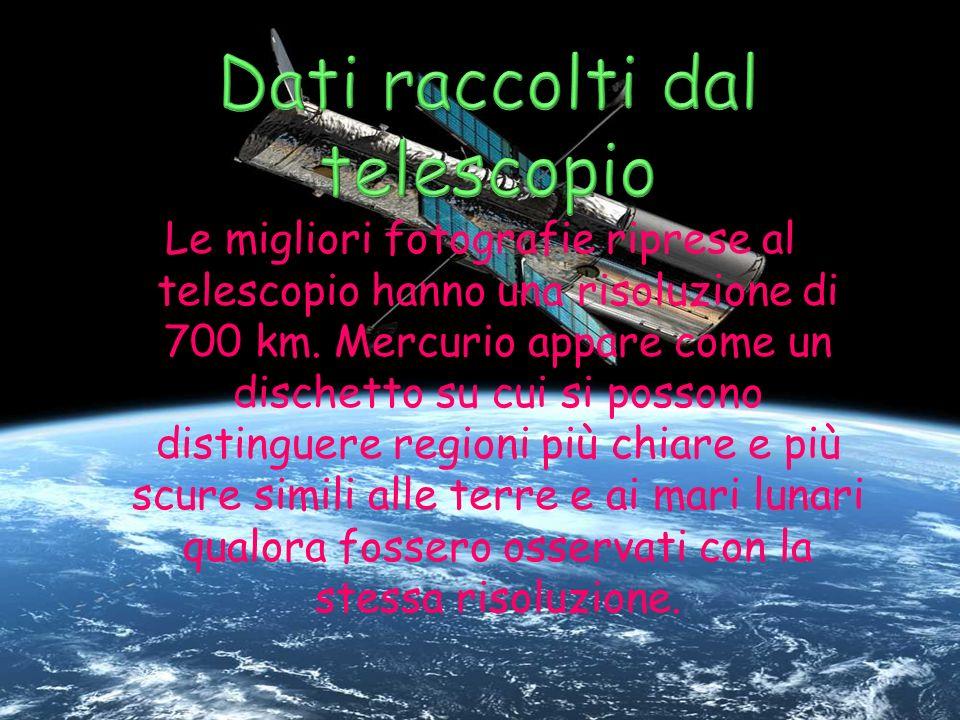 Dati raccolti dal telescopio