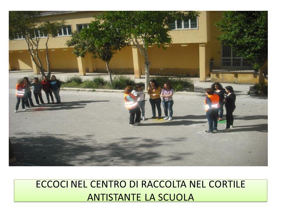 ECCOCI NEL CENTRO DI RACCOLTA NEL CORTILE ANTISTANTE LA SCUOLA