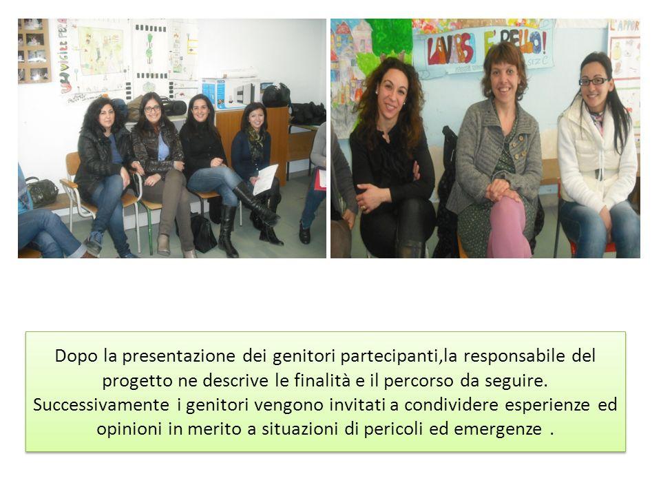 Dopo la presentazione dei genitori partecipanti,la responsabile del progetto ne descrive le finalità e il percorso da seguire.