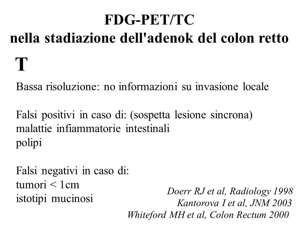 FDG-PET/TC nella stadiazione dell adenok del colon retto