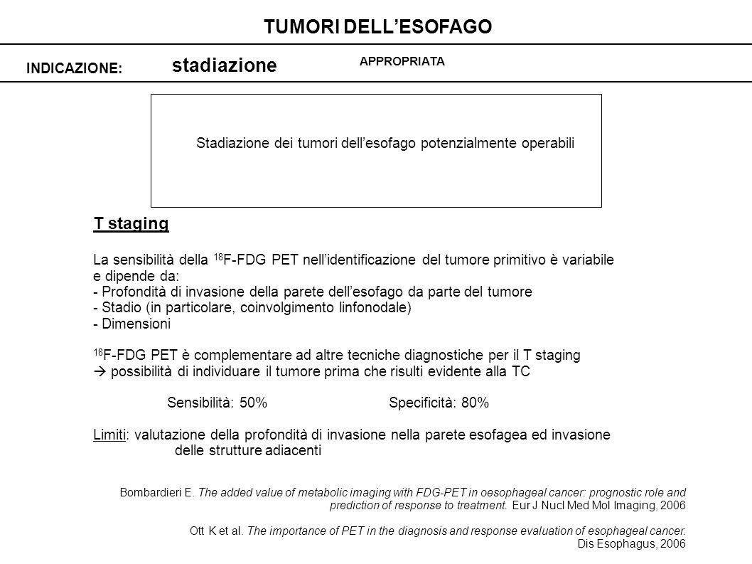 Stadiazione dei tumori dell'esofago potenzialmente operabili