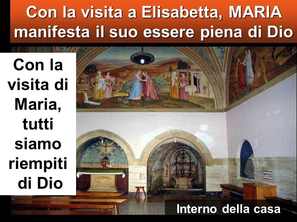 Con la visita a Elisabetta, MARIA manifesta il suo essere piena di Dio