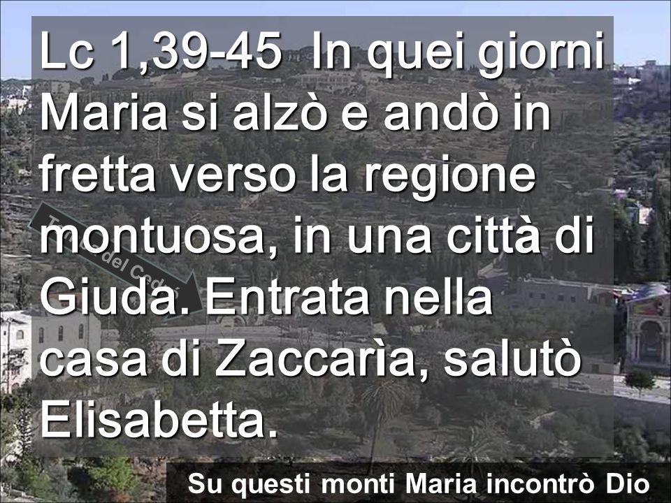 Su questi monti Maria incontrò Dio