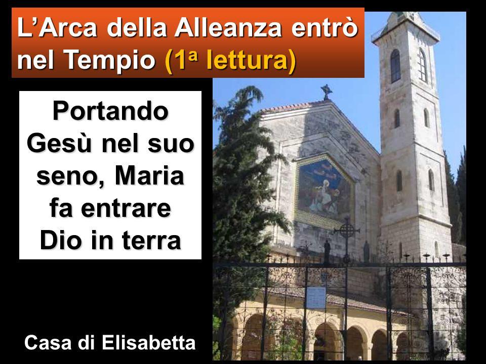Portando Gesù nel suo seno, Maria fa entrare Dio in terra