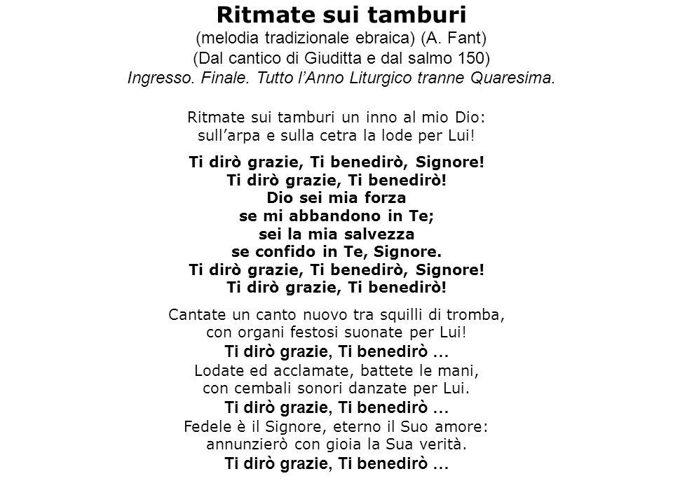 Ritmate sui tamburi (melodia tradizionale ebraica) (A. Fant)