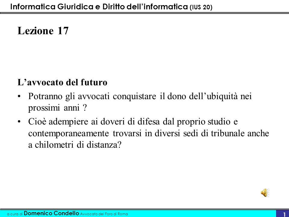 Lezione 17 L'avvocato del futuro
