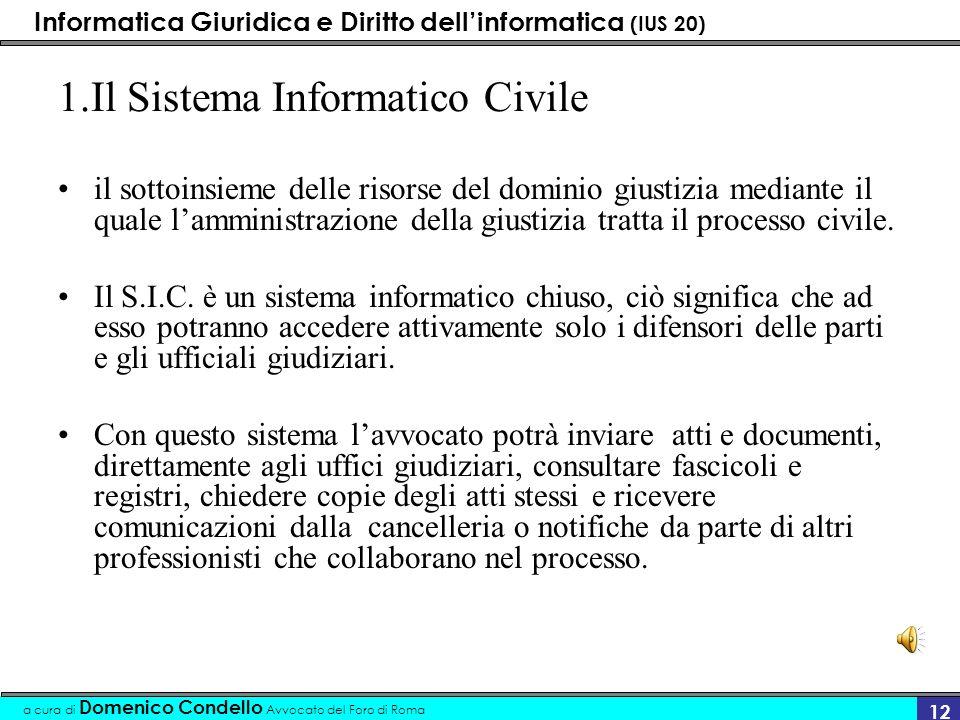 1.Il Sistema Informatico Civile