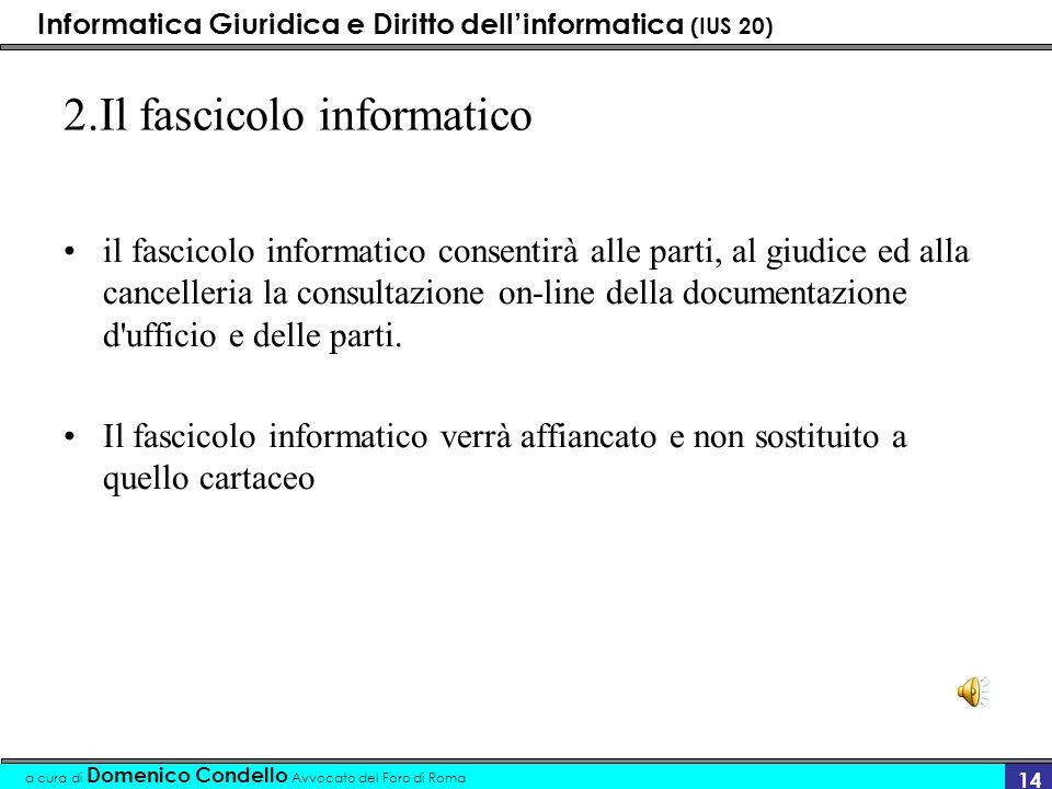 2.Il fascicolo informatico