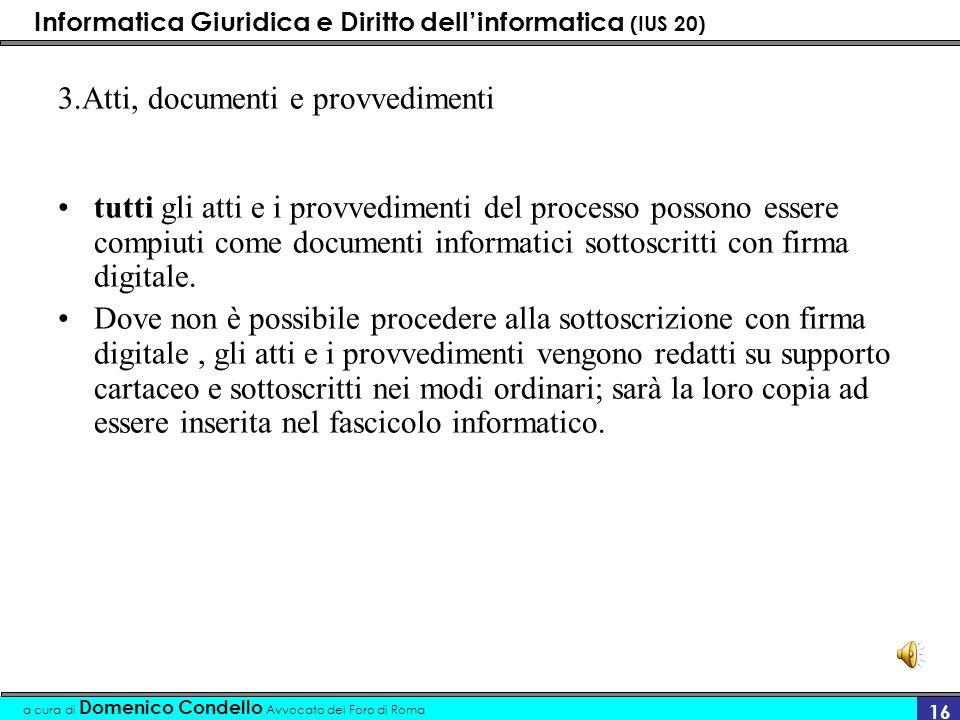 3.Atti, documenti e provvedimenti