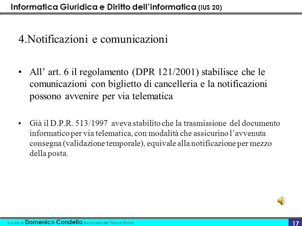 4.Notificazioni e comunicazioni