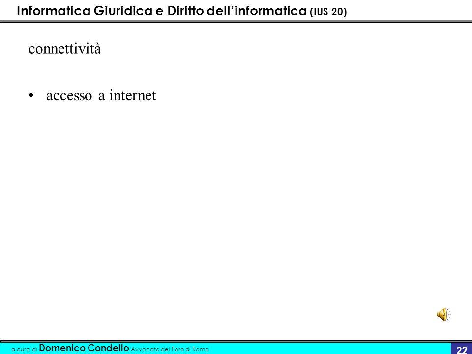 connettività accesso a internet