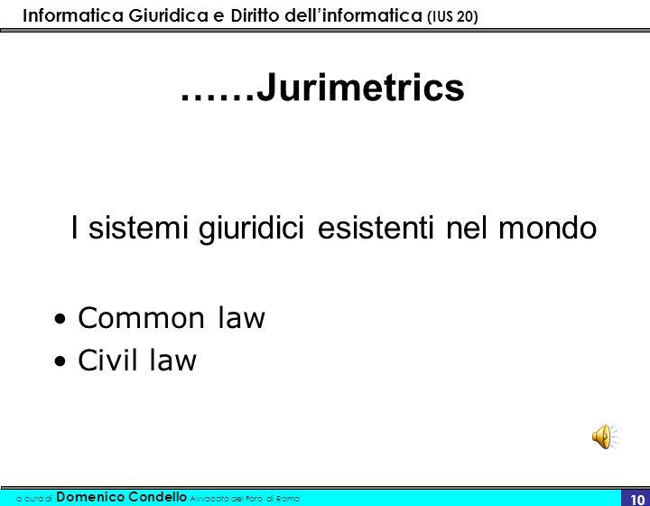 ……Jurimetrics Common law Civil law