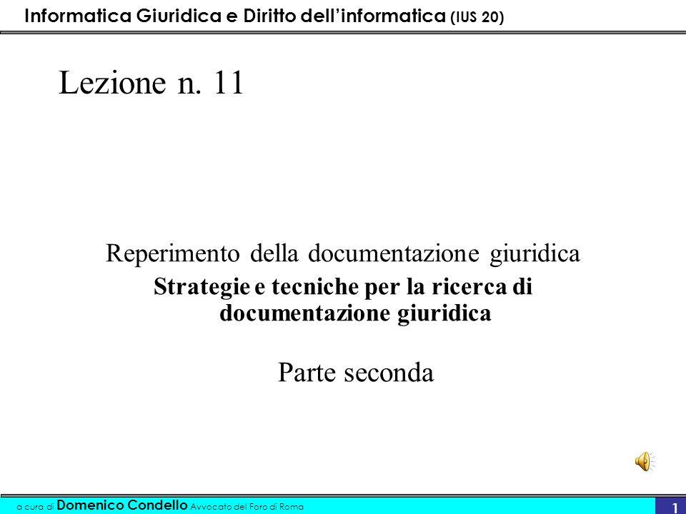 Strategie e tecniche per la ricerca di documentazione giuridica