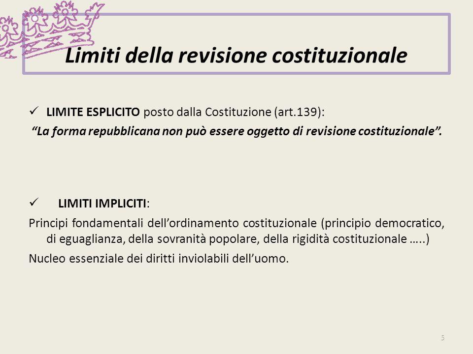 Limiti della revisione costituzionale