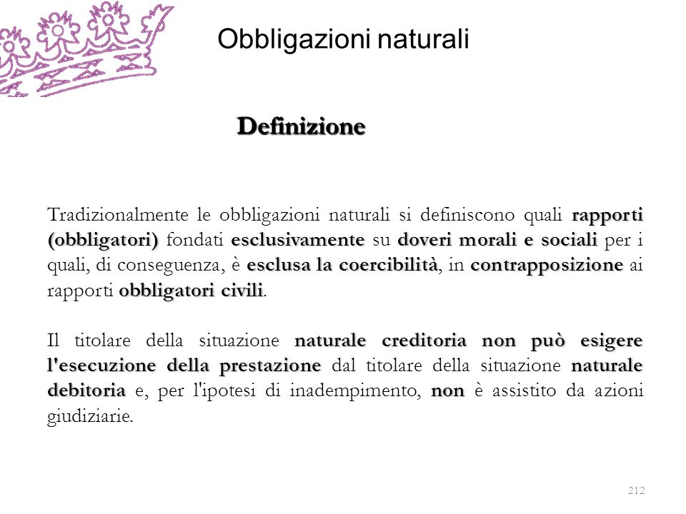 Obbligazioni naturali