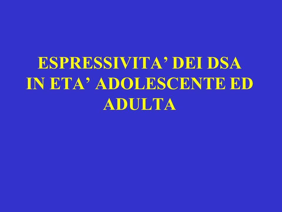 ESPRESSIVITA' DEI DSA IN ETA' ADOLESCENTE ED ADULTA